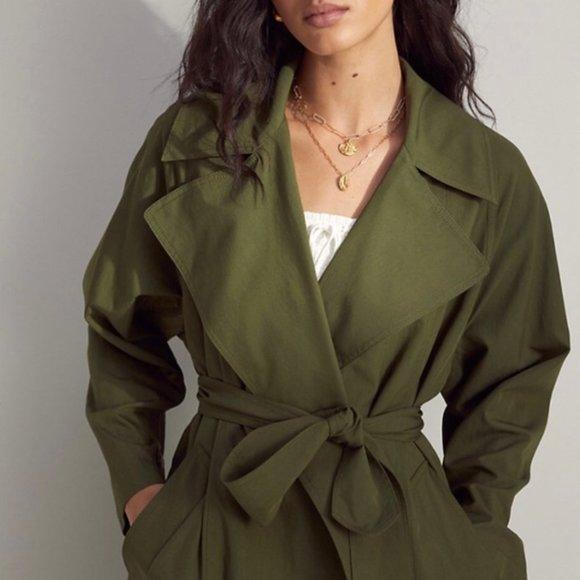 Aritzia wilfrid requiem trench coat